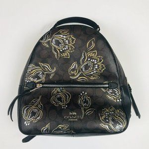 Coach Jordyn Signature Canvas Backpack Size Medium